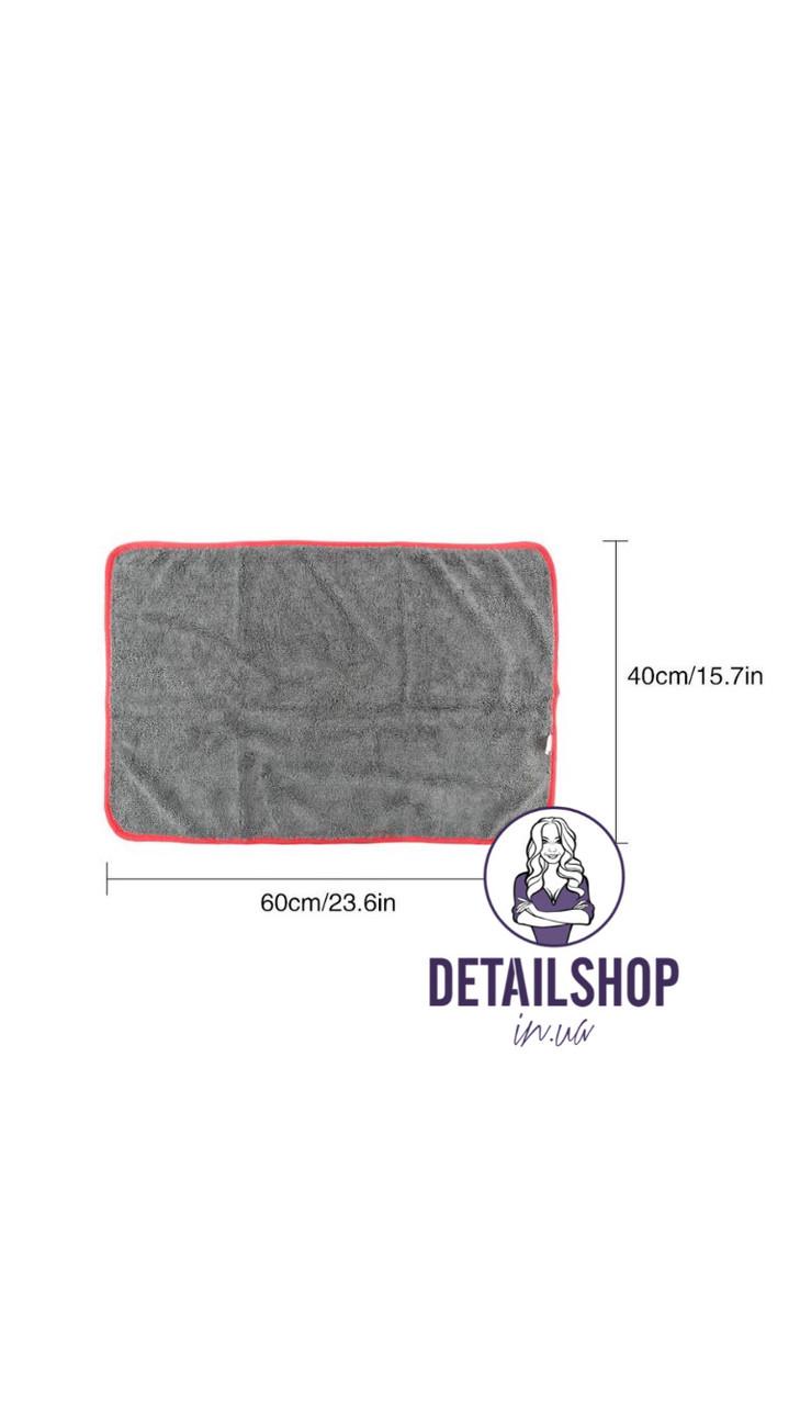 SGCB Edge Wax Towel - мікрофібра з оверлком одностороння 40*60 сіра