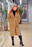 Класичне жіноче демісезонне пальто пісочного кольору Д 817, фото 2