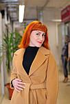 Класичне жіноче демісезонне пальто пісочного кольору Д 817, фото 4