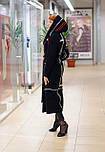 Стильное женское демисезонное пальто с капюшоном черно-красное Vam  676, фото 7