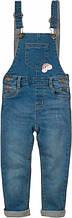 Детский комбинезон джинсовый для девочек 1-1.5 года Minoti 80-86 см