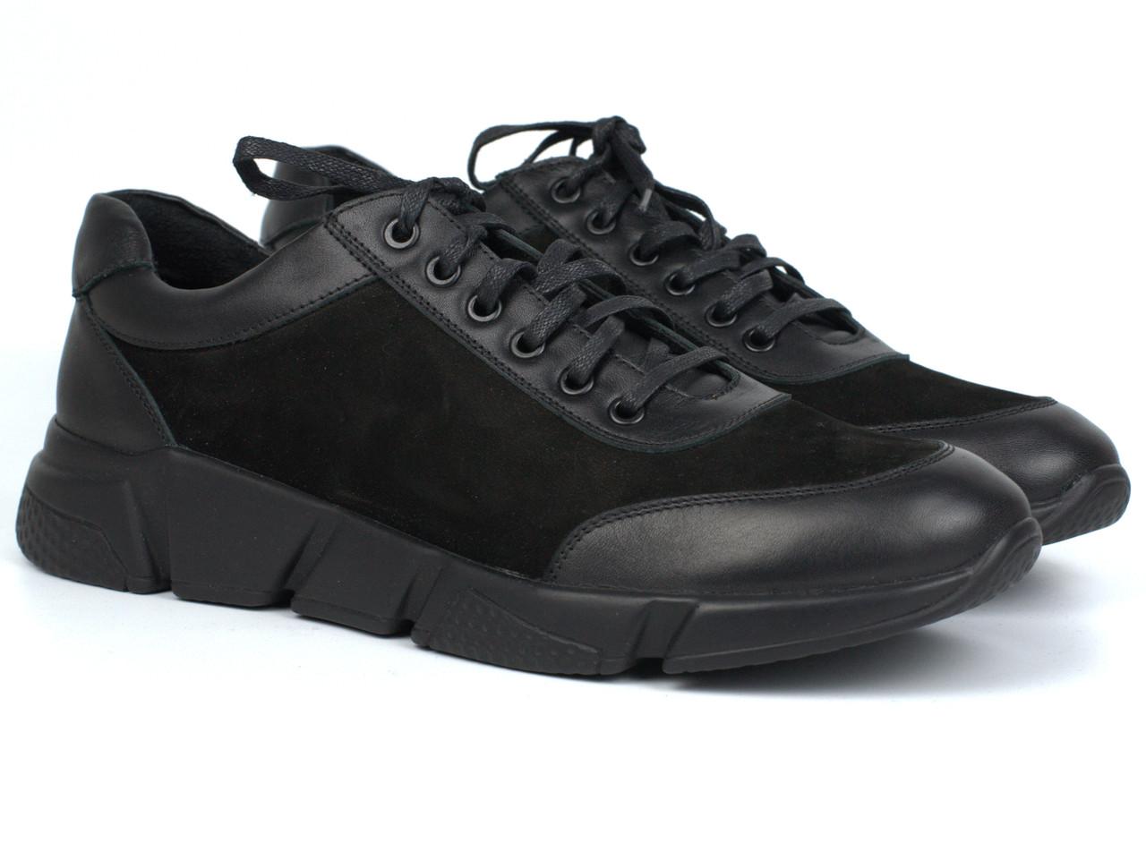 Кроссовки черные нубук мужская обувь больших размеров Rosso Avangard Ada Block Black NUB BS