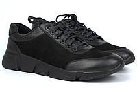 Кроссовки черные нубук мужская обувь больших размеров Rosso Avangard Ada Block Black NUB BS, фото 1