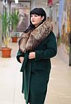 Зимнее женское пальто  из ворсовой ткани с воротником енота Ricco Столица, фото 3