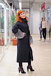 Стильне зимове жіноче пальто з манжетами з чорнобурки Ricco Рів'єра, фото 2