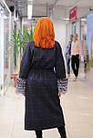 Стильне зимове жіноче пальто з манжетами з чорнобурки Ricco Рів'єра, фото 3