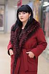 Зимове жіноче пальто-халат з хутром єнота Ricco Ніцца, фото 2