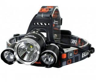 Ліхтарик ліхтар налобний RJ 3000 світлодіод T6 з 2 ма акумуляторами акумуляторний ліхтарик