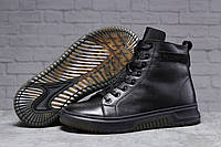 Мужские зимние ботинки из натуральной кожи Philipp Plein черные высокие кроссовки на меху