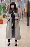 Зимнее женское удлиненное пальто с песцом Ricco Эрмитаж, фото 2