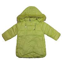 Куртка для девочки р.86-110  арт.D-2/6030 синяя,салатовая                                           , фото 1