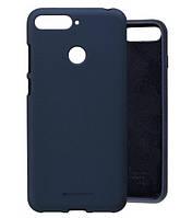 Чехол Silicone Case full для Huawei Y6 Prime 2018 Blue