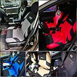 Повний комплект Чохли на сидіня авто универсальні червоного кольору матеріал поліестер, фото 2