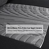 Повний комплект Чохли на сидіня авто универсальні червоного кольору матеріал поліестер, фото 10