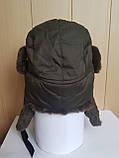 Шапка-ушанка с окантовкой из искусственного меха, фото 5
