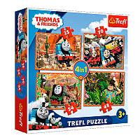 "Пазлы Trefl 4 в 1 ""Томас и друзья"" 34300"