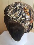 Шапка-ушанка камуфлированная с окантовкой из искусственного меха, фото 8