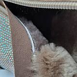 Ботинки женские зимние золотые, фото 2