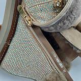 Ботинки женские зимние золотые, фото 4