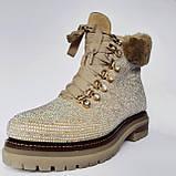 Ботинки женские зимние золотые, фото 6