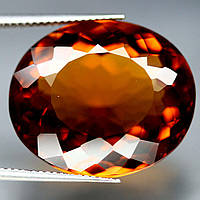 29.81 кт.  Красивый оранжевый цитрин Мадейра