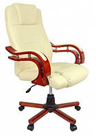 Офисное кресло операторское для персонала Bonro 8005 кресло руководителя для офиса эко кожа бежевое