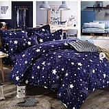 Байковый комплект постельного белья Байка ( фланель) Ветка Сине - серого цвета, фото 3