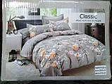 Байковый комплект постельного белья Байка ( фланель) Ветка Сине - серого цвета, фото 4