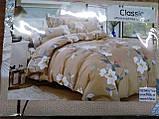 Байковый комплект постельного белья Байка ( фланель) Ветка Сине - серого цвета, фото 5