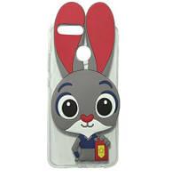 Чехол силиконовый Зверополис Rabbit для Huawei Y6 Prime 2018