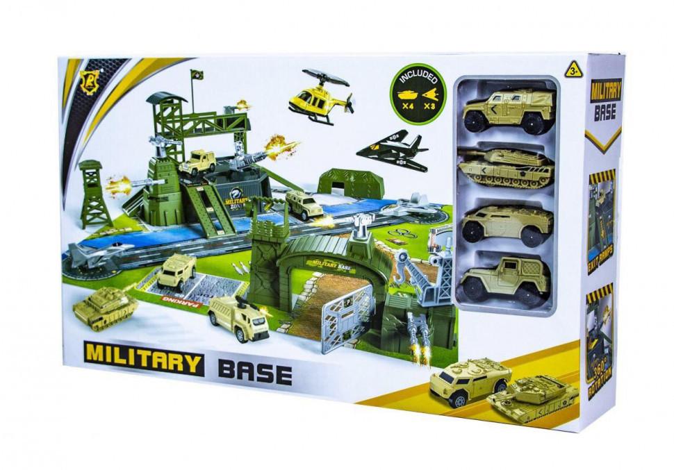 Игрушечный автотрек Военная База Military P881-A