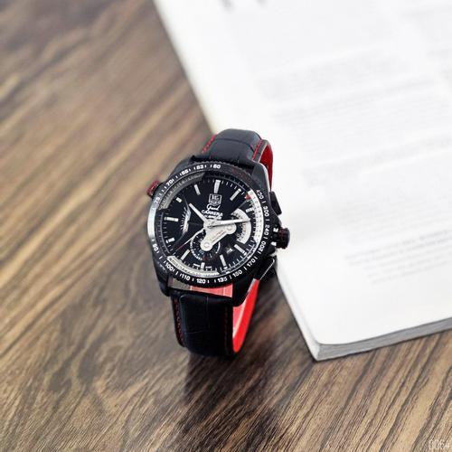 Наручные мужские часы ААА класса Таг Хауер ( Хоер) Black-Red
