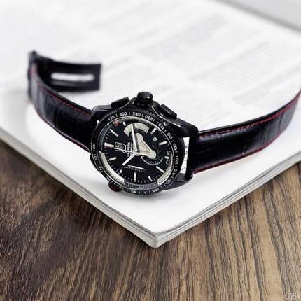 Наручные мужские часы ААА класса Таг Хауер ( Хоер) Black-Red, фото 2