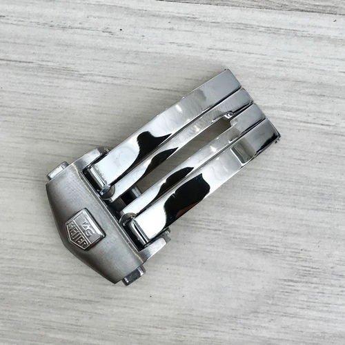 Застежка Таг Хауер ( Хоер)  18 mm Silver