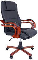 Офисное кресло операторское для персонала Bonro 8005 кресло руководителя для офиса эко кожа черное