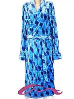 Модный длинный мужской махровый халат с 50 по 60 размер