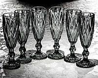 "Набор бокалов для шампанского ""Кварц"" 150 мл, 6 шт."