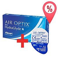 3+1 Акция! Контактные линзы Air Optix plus HydraGlyde (Aqua New)