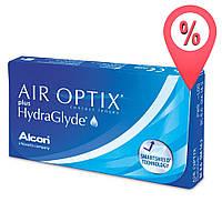 Контактные линзы Air Optix plus HydraGlyde 6 шт (Aqua New)