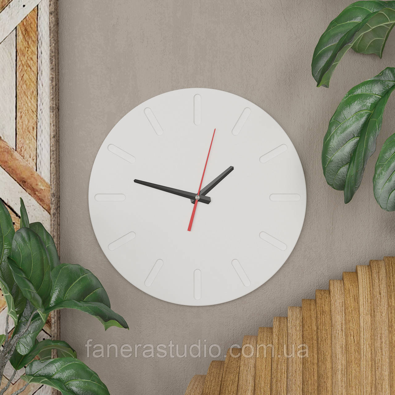 Часы круглый толщина 1 см