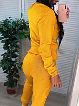Костюм женский теплый вязаный штаны и кофта косичка, фото 3