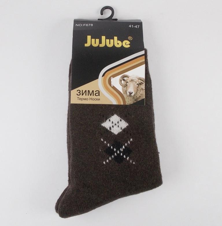 Носки термо шерсть Jujube 678 размер 41-47 коричневые