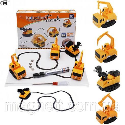 Индуктивный игрушечный автомобиль Memos Inductive Truck (едет по линии)