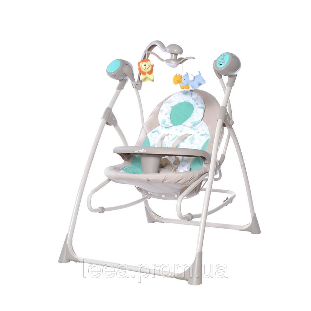 Музыкальная колыбель-качели CARRELLO Nanny CRL-0005 Azure Beige