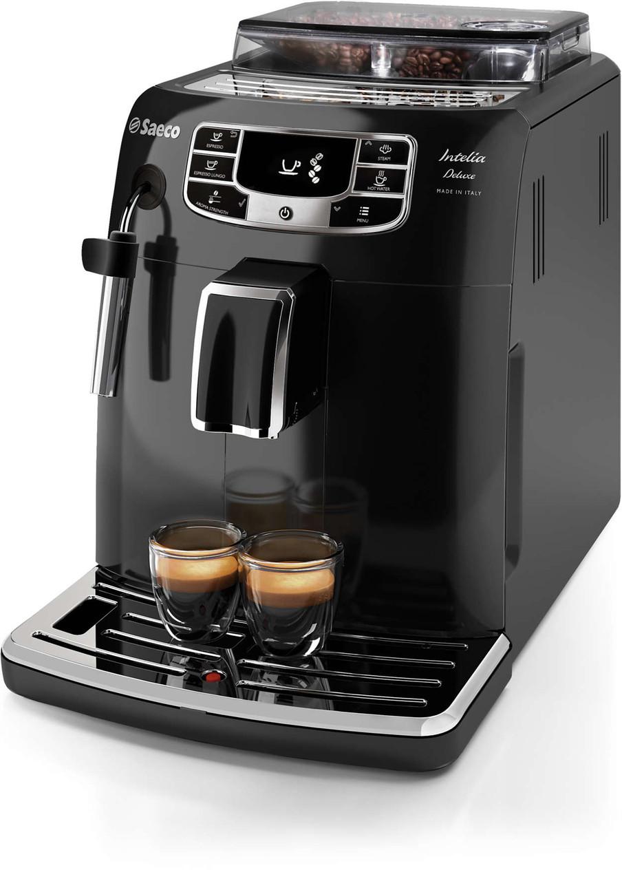 Кофеварка Saeco Intelia Deluxe HD8902/01 Black