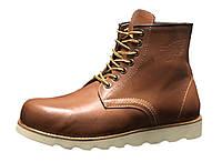 """Ботинки зимние мужские кожаные """"Светло-коричневые"""" зима искусственный мех р. 41-45, фото 1"""