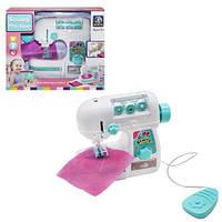 Швейная машина детская игрушечная с нитками и автоматической педалью, световые эффекты