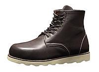 """Ботинки зимние мужские кожаные """"Темно-коричневые"""" зима искусственный мех р. 41-45, фото 1"""