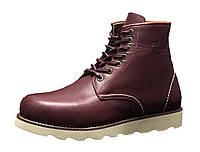 """Ботинки зимние мужские кожаные """"Вишневые"""" зима искусственный мех р. 41-45, фото 1"""