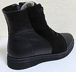 Ботинки женские зимние большого размера на низком ходу от производителя модель БР201, фото 4